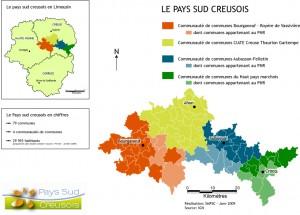 Carte du Pays sud creusois / Janvier 2009